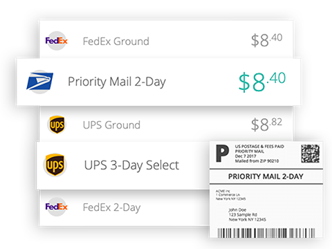 Real-time shipping rates